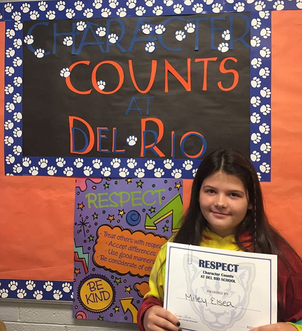 Fifth-grader Miley Elsea is the Student of the Week for Chino Valley Unified School District. (Courtesy)
