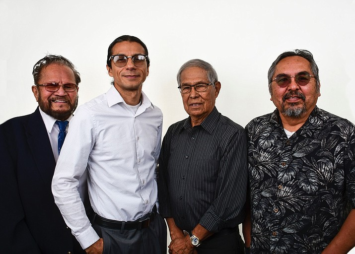 From left: Lawrence Isaac, Jr., Michael Lerma, James Tutt and Paul Willeto. (Photo courtesy of Diné College)