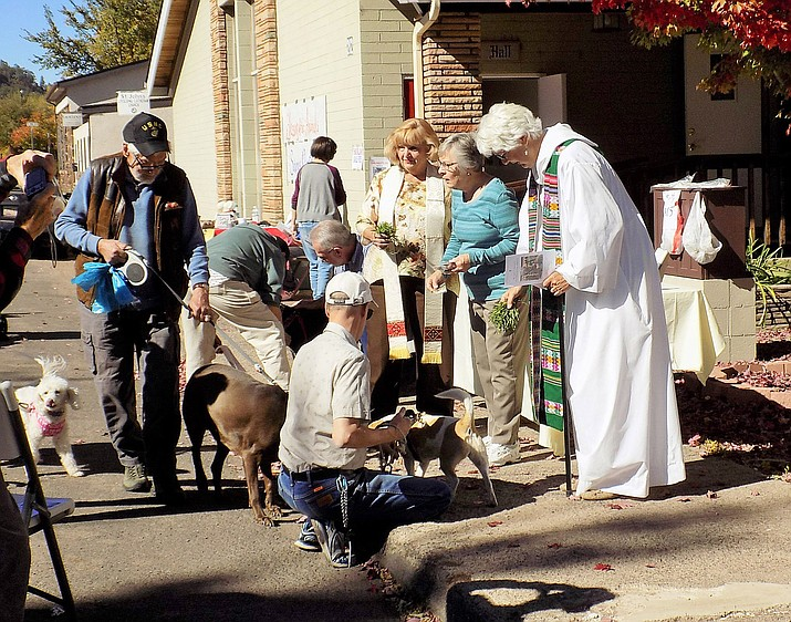 Animals are blessed during the 2017 Blessing of the Animals at St. Johns Episcopal-Lutheran Church. This year's blessing takes place Oct. 6. (Submitted photo)