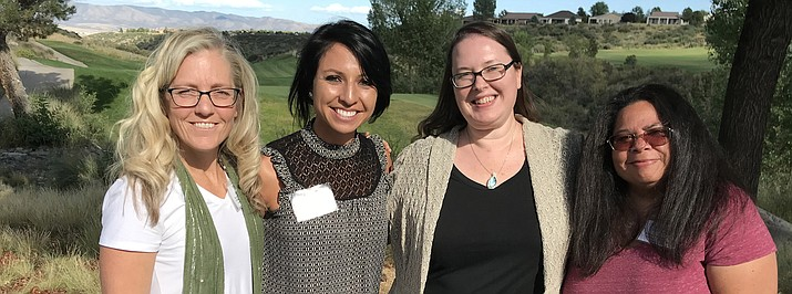 The editorial staff at Williams-Grand Canyon News and Navajo-Hopi Observer won awards in writing and photography. From left: Wendy Howell, Loretta Yerian, Erin Ford and Katherine Locke. (NHO)