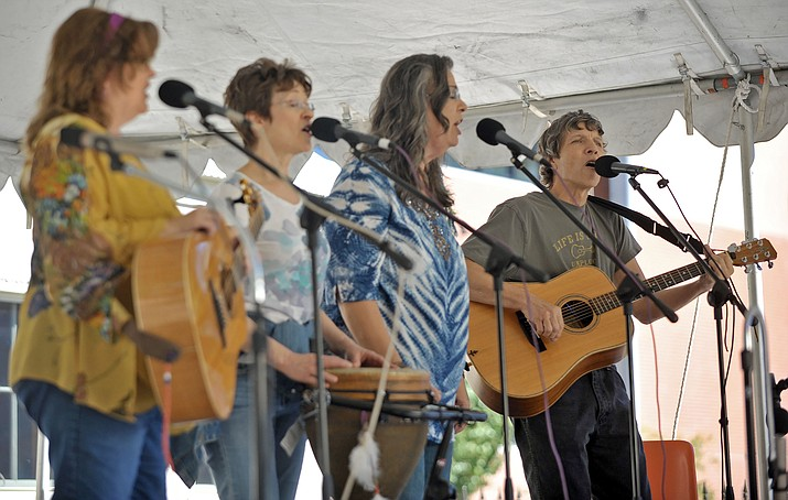Folk music band performances this weekend at the 40th annual Folk Music Festival at the Sharlot Hall Museum in downtown Prescott will span four venues on the museum grounds. (Kudos, file photos)