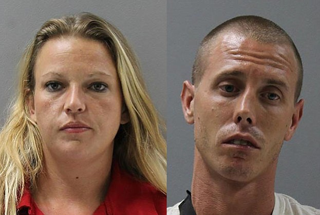 Jamie Kaiser (left), 30, from Peoria and Courtney Lee, 31, from Chino Valley were arrested in Chino Valley Sept. 27 on drug and weapon charges. Kaiser also had a warrant out for her arrest.