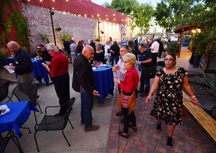 The City of Prescott, American Legion Post 6, and the Prescott Chamber of Commerce host a celebration of the life and sacrifice of Ernest A. Love, and all  World War I veterans, at a reception at the Holiday Courtyard, on Whiskey Row Thursday, Oct. 4, 2018 in Prescott.