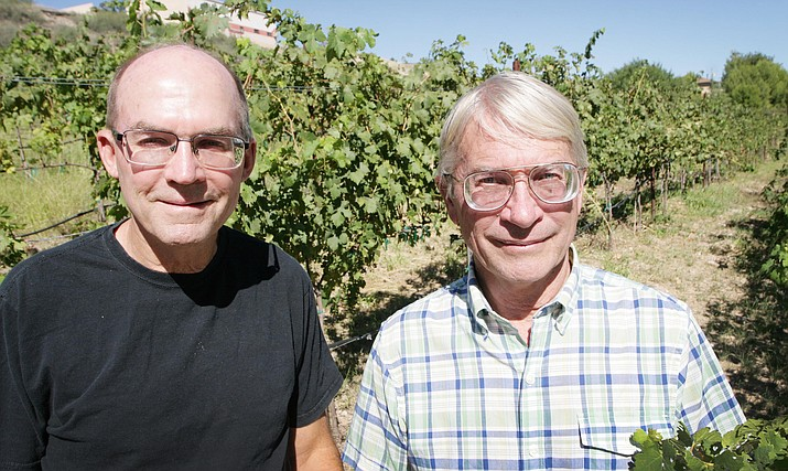 Brothers Kevin and Chip Norton, from left, of Salt Mine Wine. VVN/Bill Helm