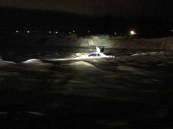 Mohave County Sheriff's Office Search and Rescue answered the call during the storm the rolled through Kingman and Golden Valley Wednesday night into Thursday morning. (MCSO SAR photo)