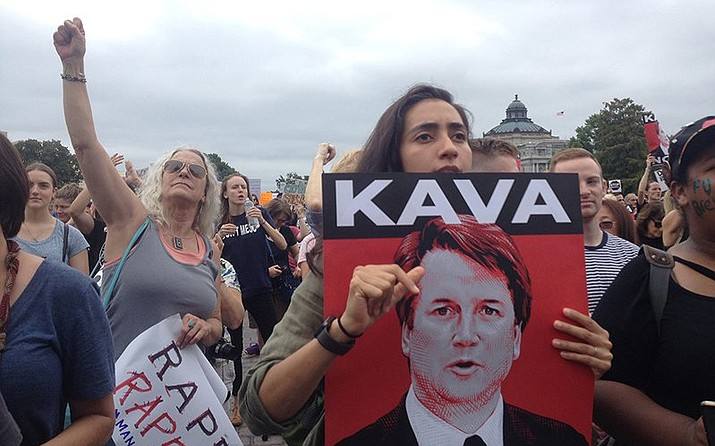 Days of protests against Supreme Court nominee, now justice, Brett Kavanaugh continued at the Capitol as the Senate was confirming him. (Photo by Cronkite News)