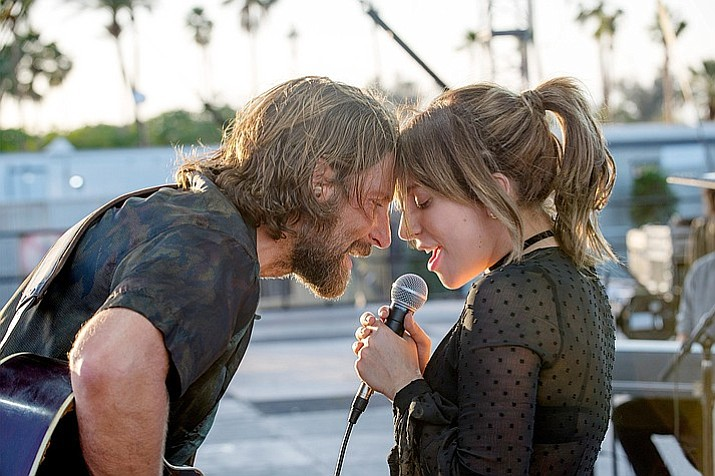 "Bradley Cooper and Lady Gaga in ""A Star Is Born."" (Neal Preston/Warner Bros)"
