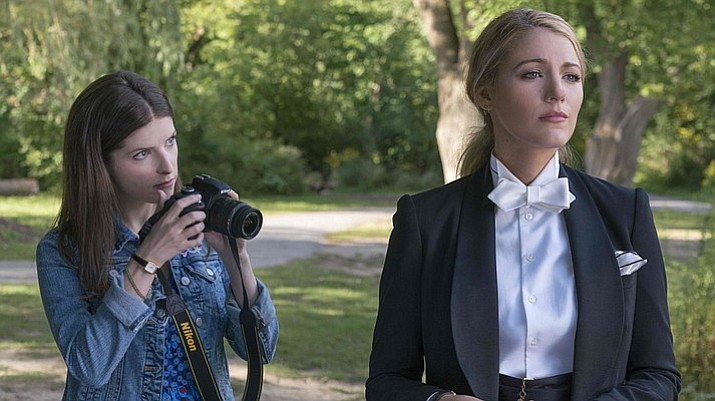 "Kendrick, left, and the alluringly dapper Lively in Paul Feig's 'A Simple Favor.' ""I've always wanted to direct a Hitchcockian thriller,"" says the director. (Liongate/Peter Iovino)"