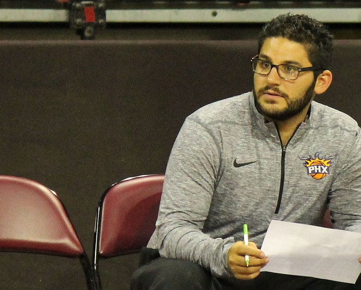 Louis Lehman watches over a local tryout Sept. 9, 2017, in Prescott Valley. Lehman was relieved of his general manager duties Monday, Oct. 8, 2018, just hours after the Phoenix Suns fired General Manager Ryan McDonough. (NAZ Suns/Courtesy)