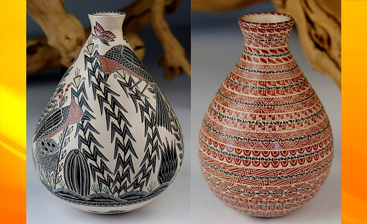 This year's Sedona Arts Festival will also see the return of Mata Ortiz pottery with featured Master Potters Laura Bugarini Cota and Hector Gallegos Martinez.  This husband-and-wife team are two of the best second-generation potters from Mata Ortiz, Mexico, learning the art of Mata Ortiz Pottery from their incredibly talented parents.