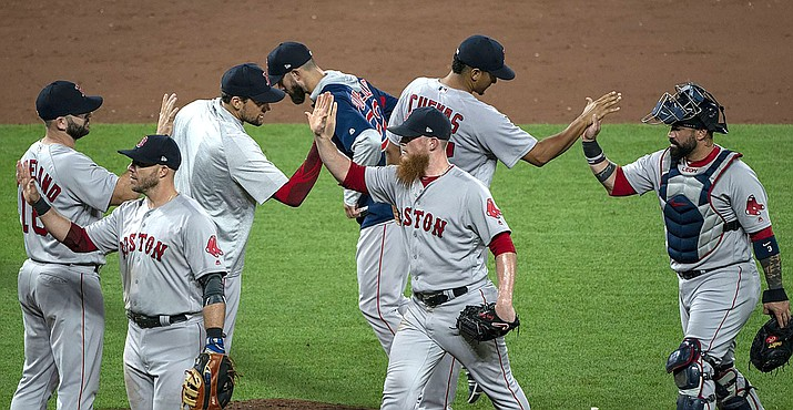 The Boston Red Sox have clinched a spot in the AL Championship Series for the first time since 2013. (Photo by Keith Allison, CC by 2.0., https://bit.ly/2pSjM45)
