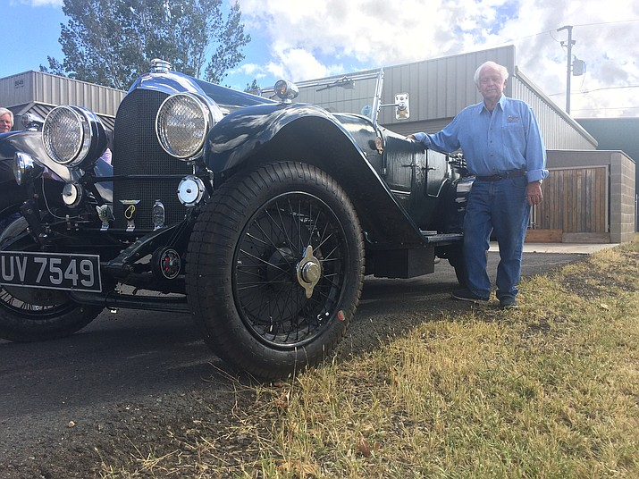 "Dick Belveale with his 1929 Bentley that will be at the Special Cars ""fore"" Special Athletes charity car show Sunday, Oct. 14. (Jason Wheeler/Courier)"