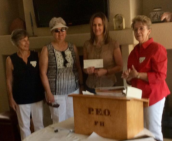 Margo Heikkila, Anne Heath, Alexandrea Sealey, grant recipient, and Susan Johnson. (Courtesy)