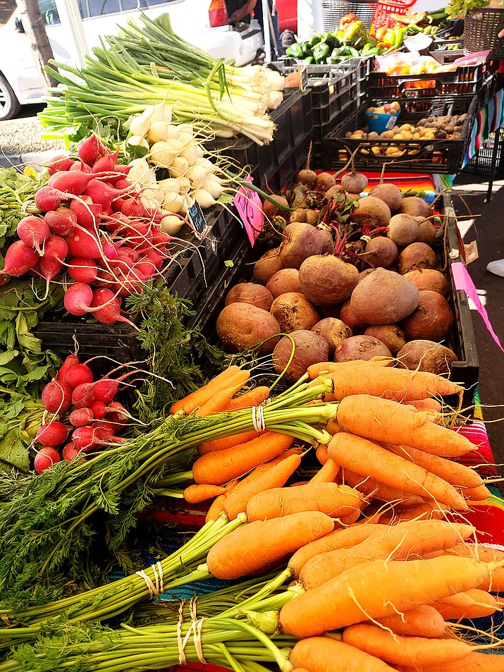 The Prescott Farmers Market offers a variety of goods, including fresh vegetables and fruit. (Courtesy)