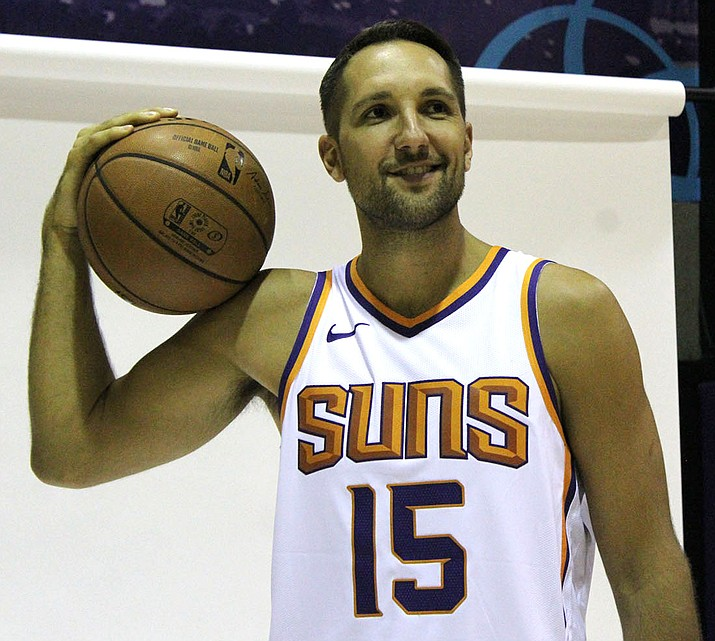Phoenix's Ryan Anderson tallied 18 points to help the Suns knock off the Warriors. The Suns conclude their preseason slate tonight at Portland. (Photo by Beau Bearden/Daily Miner)