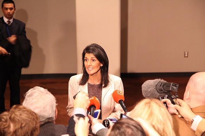 U.S. Ambassador to the United Nations Nikki Haley resigned Tuesday, Oct. 9. (U.S. Mission to the U.N. photo)