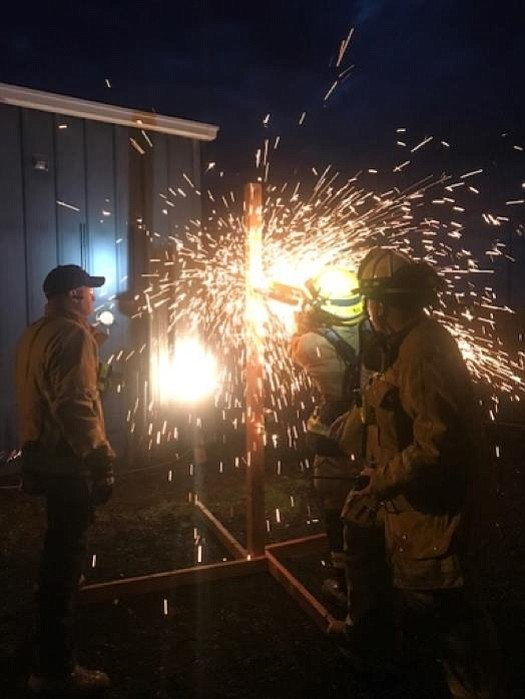Williams Fire Department receives training on entry and search and rescue during the month of August. (Submitted photo)