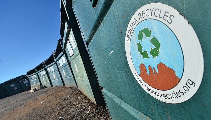 As is required by its contract with Yavapai County, Sedona Recycles still maintains five recycling sites in the Sedona-Verde Valley region. They are located at Clarks Market in VOC, Cornville Mercantile and Oak Creek School in Cornville, the Verde Village Clubhouse and the largest site, located just across from Mingus Union High School on Camino Real. VVN/Vyto Starinskas