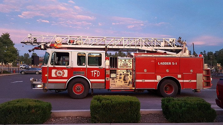 The Tusayan Fire Department is having a naming contest for its new ladder truck. The winner will be announced at Trunk or Treat Oct. 31. (Submitted photo)