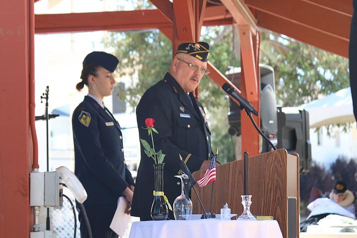 Alisa LeBlanc, Prescott High School JROTC – MC for event and Glenn Coopey, Commander – DAV Chapter 16. (Courtesy)