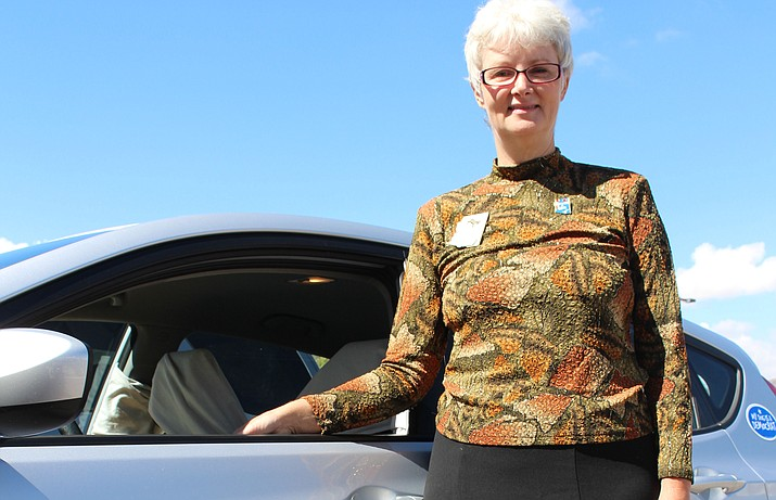 J'aime Morgaine, Democratic challenger for Legislative District 5 state senate, feels nothing is being done to protect Mohave County's water rights, and wants to change antiquated state laws. (Photo by Hubble Ray Smith/Daily Miner)