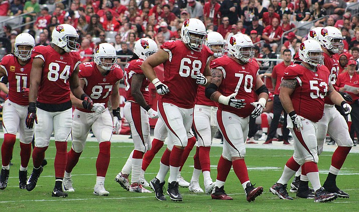 Arizona's offensive line still has a long way to go as the Cardinals rank dead last with 64.6 rushing yards per game. (Daily Miner file photo)