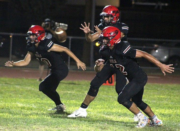 From left, Lee Williams' Kade Juelfs, Enzo Marino and Cameron Ott will look to help the Vols notch their first region win of the season at 7 p.m. against Coconino. (Daily Miner file photo)