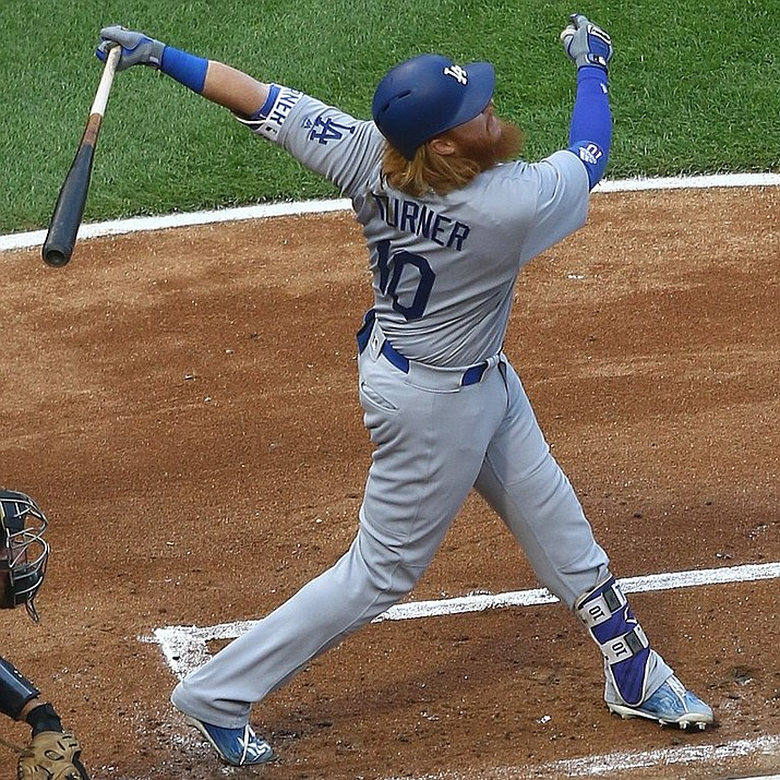 Los Angeles Dodgers' Justin Turner hit a two-run home run during the eighth inning of Game 2 of the National League Championship Series against the Milwaukee Brewers to propel the Dodgers to a 4-3 win Saturday, Oct. 13 in Milwaukee. The win evened the series 1-1. (Tony the Tiger file photo, cc-by-sa-4.0, https://bit.ly/2NGe0vQ)