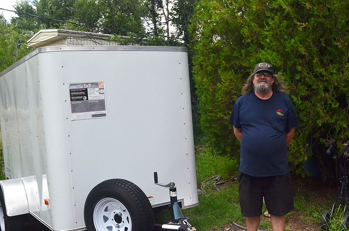 Daniel Mattson uses this trailer for the Granite Creek Hunger Ministry  and stores it at the downtown Prescott property he rents. (Courtesy)