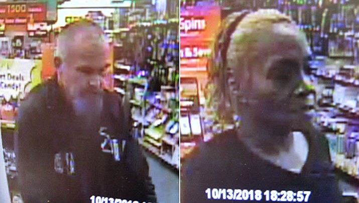 Yavapai County Sheriff's Office is looking for this couple suspected of using counterfeit $100 bills at a Family Dollar store in Cordes Lake on Saturday night, Oct 13, 2018. (YCSO)