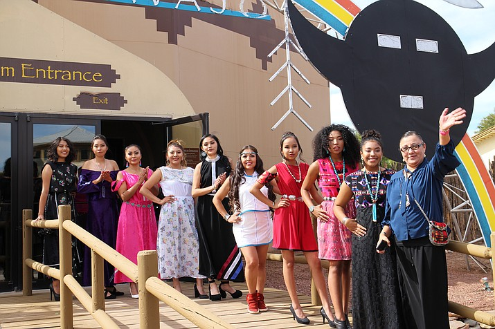 Belinda Daychief Bullshoe and her collection of beautiful designs that have been on the world's runway (Kyla Rivas/NHO)
