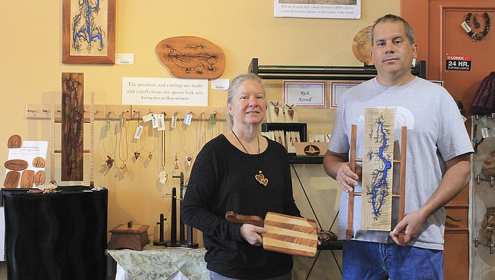 Kerrell and Loynd display exotic wood art at The Gallery