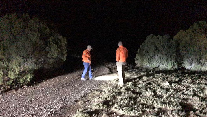 Search and rescue workers looked for two hunters missing in the Truxton area last week before they showed up safely at home. (Photo courtesy of Mohave County Sheriff's Office)