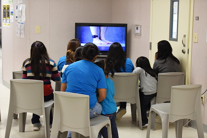 This Aug. 9, 2018, photo shows a scene from a tour of South Texas Family Residential Center in Dilley, Texas. The 2,400-bed detention facility that the Trump administration is using to detain immigrant mothers and children will now operate under an arrangement the U.S. government quietly reached with a private prison operator and the city where it's located. (Charles Reed/U.S. Immigration and Customs Enforcement via AP, File)