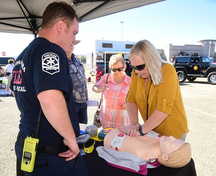 "Learn ""stay-alive"" tips from Central Arizona Fire and other local emergency response experts during the Community Preparedness Fair. This free event will be held from 10 a.m. to 2 p.m. Saturday, Oct. 20 at the Church of Jesus Christ of Latter-Day Saints, 7073 E. Pronghorn Ranch Parkway. (Les Stukenberg/Daily Courier File)"