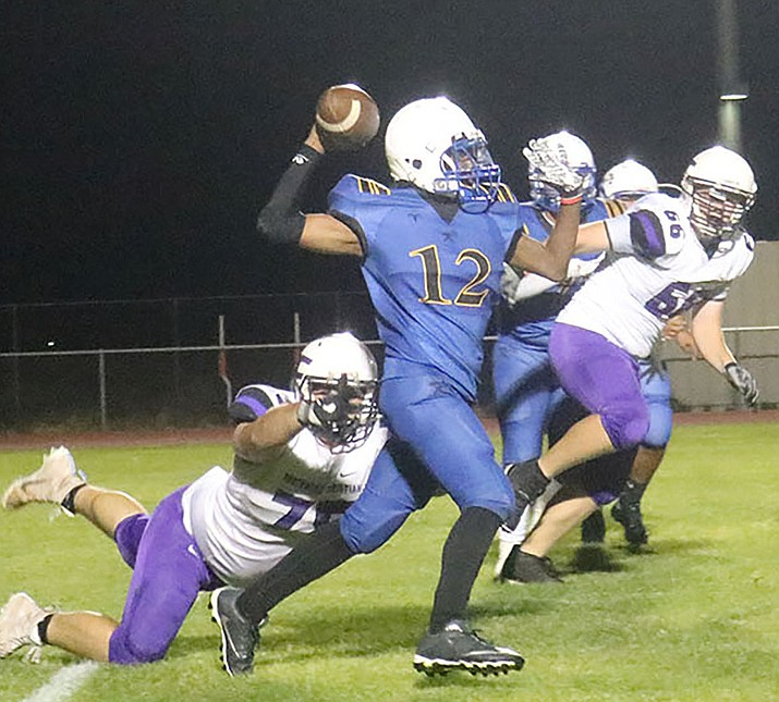 Freshman Lamar Jackson will start at quarterback for the Bulldogs Friday night against Wickenburg. Jackson has thrown a touchdown in each of his last two games. (Photo by Travis Rains/Daily Miner)