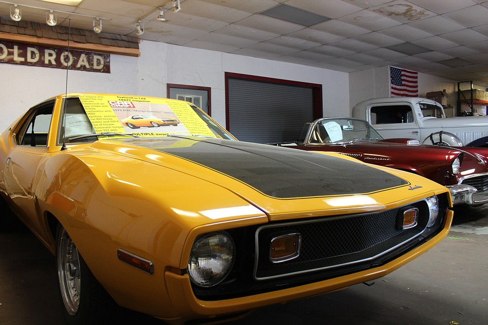 This AMC Javelin at Dunton Motors was featured in Car Craft magazine.