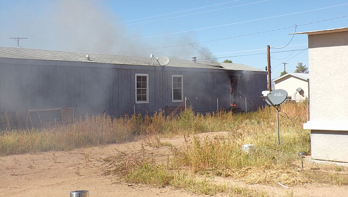 A single-home mobile home caught fire Sunday on Ryan Avenue and several pets perished in the fire that caused $24,000 in damage. Nobody was injured.