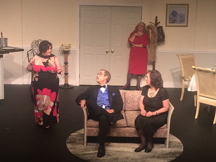 """The Dinner Party"" cast at Prescott Center for the Arts. (Courtesy)"