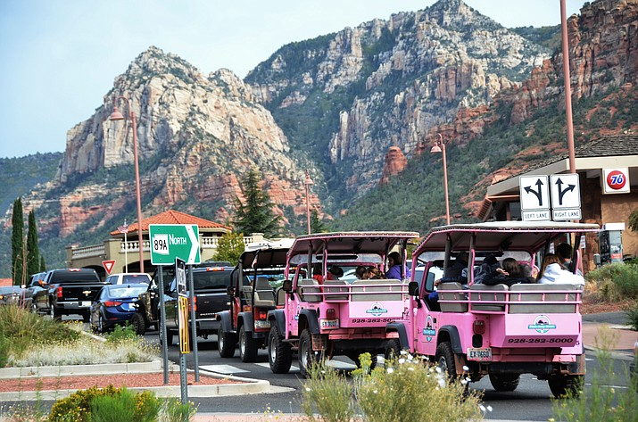 A view of State Route 89A in Uptown Sedona. The city will remain under Home Rule for four years, but the Nov. 6 ballot would establish a permanent expenditure limit on the Sedona City Council after that. VVN/Vyto Starinskas