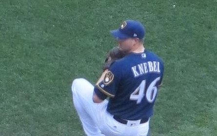 Corey Knebel and the Brewers' bullpen led the way with another shutdown performance by Milwaukee's tough bullpen as the Brewers beat the Dodgers 7-2 Friday and force a seventh and deciding game in the NLCS. (Willsome49 file photo, cc-by-sa-4.0, https://bit.ly/2yP83aw)
