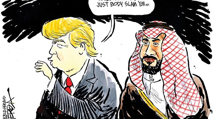 Editorial cartoon (2): Oct. 22, 2018