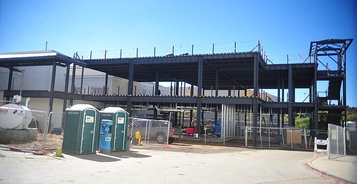 The new sterile processing service and logistics building under construction at the Prescott VA Hospital. (Les Stukenberg/Courier)