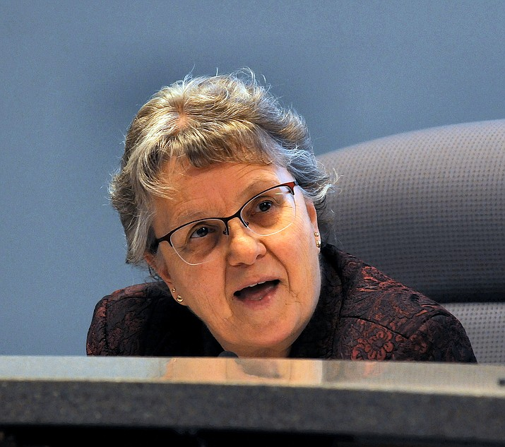 State schools chief Diane Douglas details Monday why she wants education standards crafted by a Christian college to have to be used in Arizona schools. (Capitol Media Services photo by Howard Fischer)