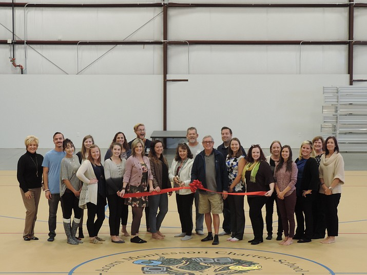 Acorn Montessori Charter School has expanded with a newly completed state-of-the-art gymnasium as well as the addition of two new classrooms. The ribbon-cutting ceremony took place Monday, Oct. 15, at the Early Childhood Campus, 7555 E. Long Look Drive, Prescott Valley. (Courtesy)