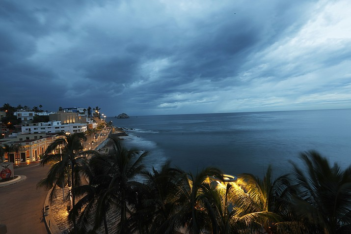 Clouds move in over Mazatlan, Mexico, Tuesday, Oct. 23, 2018, before the arrival of Hurricane Willa. Willa is headed toward a Tuesday afternoon collision with a stretch of Mexico's Pacific coast, its strong winds and high waves threatening high-rise resorts, surfing beaches and fishing villages. (Marco Ugarte/AP)