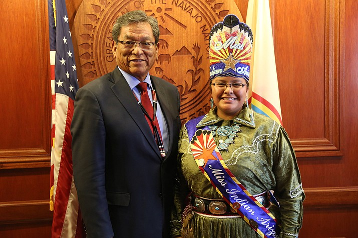 Navajo Nation President Russell Begaye met with Niagara Rockbridge prior to delivering the State of the Navajo Nation Address in Window Rock Oct. 14. (Office of the President and Vice President)