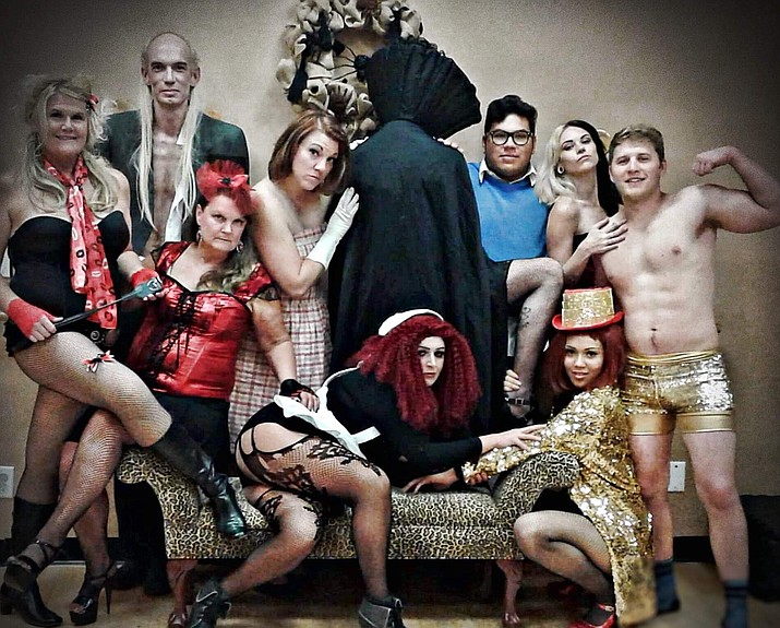 """The cast of """"The Rocky Horror Picture Show,"""" put on by One Stage Family Theatre, who will perform at the Elks Theatre and Performing Arts Center Saturday, Oct. 27. (Tamee Niekamp/Courtesy)"""