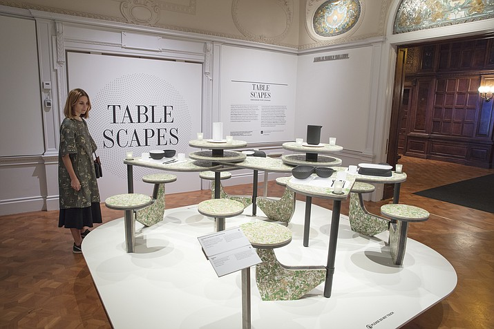 "The exhibit ""Tablescapes: Designs for Dining,"" which runs through April 14, 2019, at Smithsonian Design Museum in New York. (Matt Flynn/Cooper Hewitt, Smithsonian Design Museum via AP)"