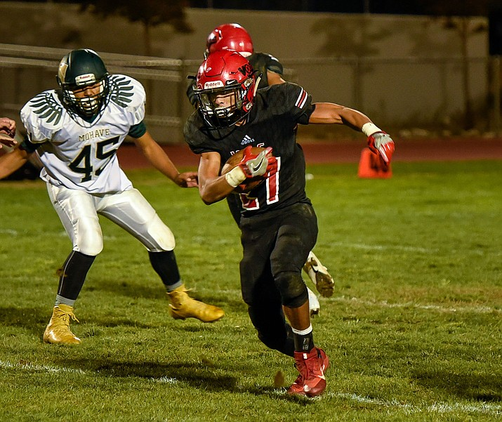 Vols junior Donnie Simms rushed for two scores in a 34-20 win Friday night over Mohave. (Submitted photo by Jason Marino)